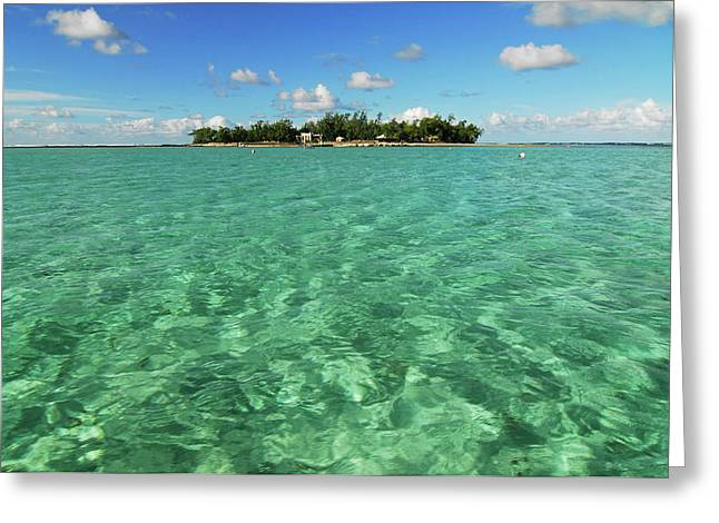 Mauritius, Blue Bay, Turquoise Rippled Greeting Card by Anthony Asael