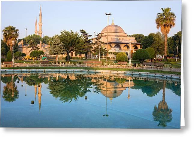 Ahmet Greeting Cards - Mausoleum of Sultan Ahmet I in Istanbul Greeting Card by Artur Bogacki