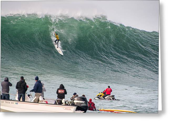 Twiggy Greeting Cards - Mavericks Invitational 2014 Series 10 Greeting Card by Josh Whalen