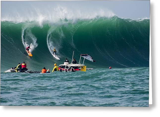 Twiggy Greeting Cards - Mavericks Invitational 2014 Series 14 Greeting Card by Josh Whalen