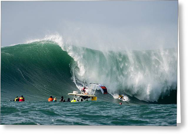Twiggy Photographs Greeting Cards - Mavericks Invitational 2014 Series 15 Greeting Card by Josh Whalen
