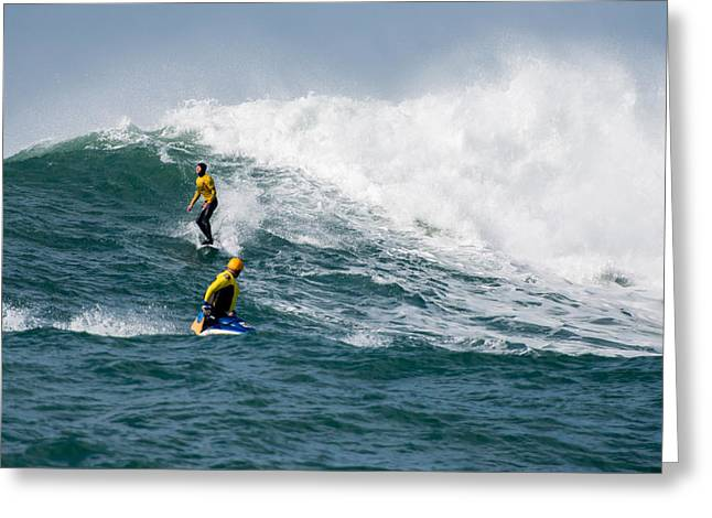 Twiggy Photographs Greeting Cards - Mavericks Invitational 2014 Series 16 Greeting Card by Josh Whalen