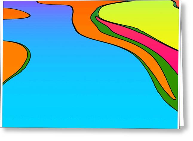 Peter Max Greeting Cards - Max 01 Greeting Card by TW Barker