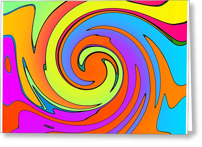 Peter Max Greeting Cards - Max 06 Greeting Card by TW Barker