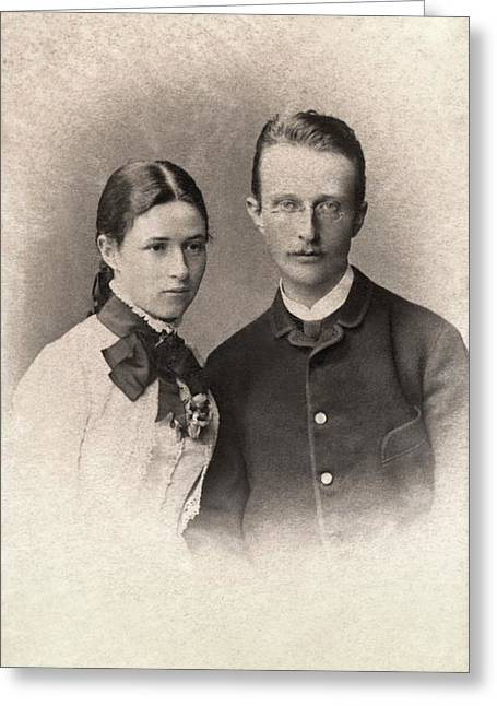 Max Planck And Wife Greeting Card by American Philosophical Society