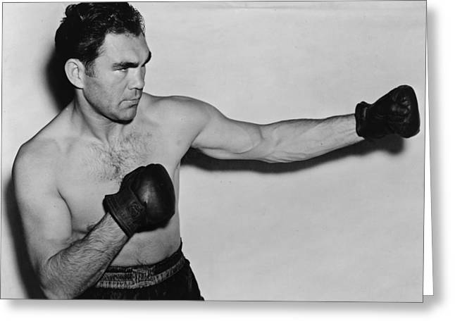 Famous Person Portrait Greeting Cards - Max Schmeling 1938 Greeting Card by Mountain Dreams