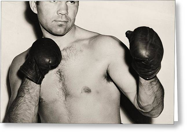 Max Schmeling Greeting Card by PG REPRODUCTIONS