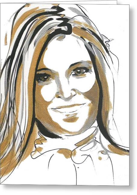 Celeb Greeting Cards - Maxima Queen  Greeting Card by Go Van Kampen