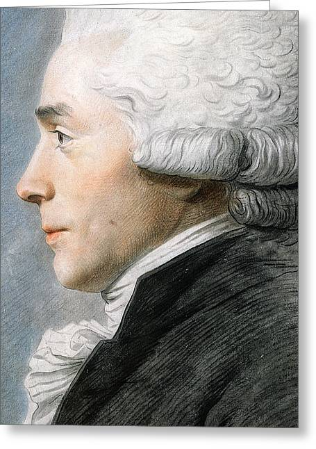French Leaders Greeting Cards - Maximilien de Robespierre  Greeting Card by Joseph Boze