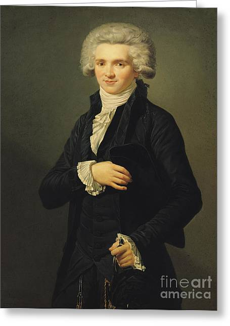 French Revolution Greeting Cards - Maximilien de Robespierre Greeting Card by Pierre Roch Vigneron