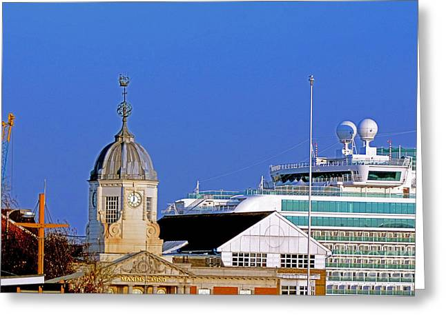Weathervane Greeting Cards - Maxims Casino Town Quay and Ventura Greeting Card by Terri  Waters