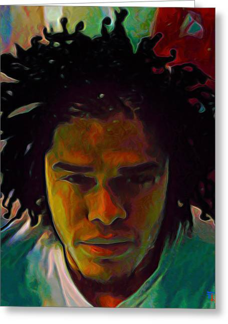 Print On Canvas Greeting Cards - Maxwell Greeting Card by  Fli Art
