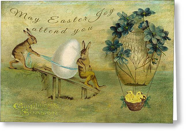 May Easter Joy Attend You Greeting Card by Sarah Vernon