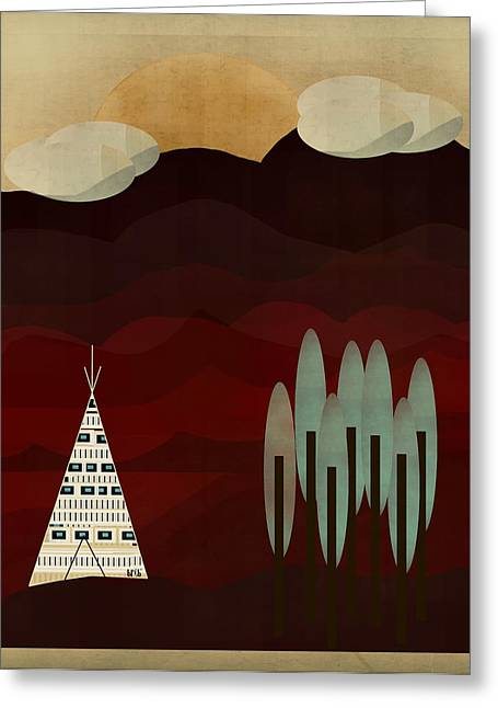 Tipis Greeting Cards - May It Be Greeting Card by Bri Buckley