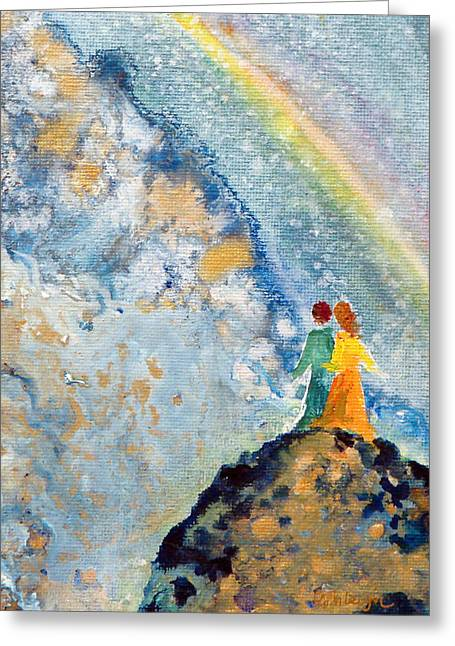 Dream Scape Greeting Cards - May Our Sight Greeting Card by Ashleigh Dyan Bayer