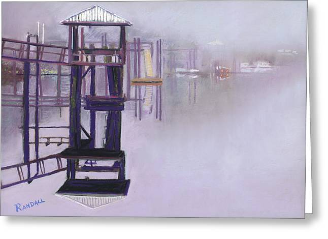 Fog Pastels Greeting Cards - May River Fog Greeting Card by David Randall
