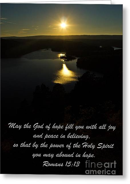 Outlook Greeting Cards - May the God of hope  Greeting Card by Tom Gari Gallery-Three-Photography