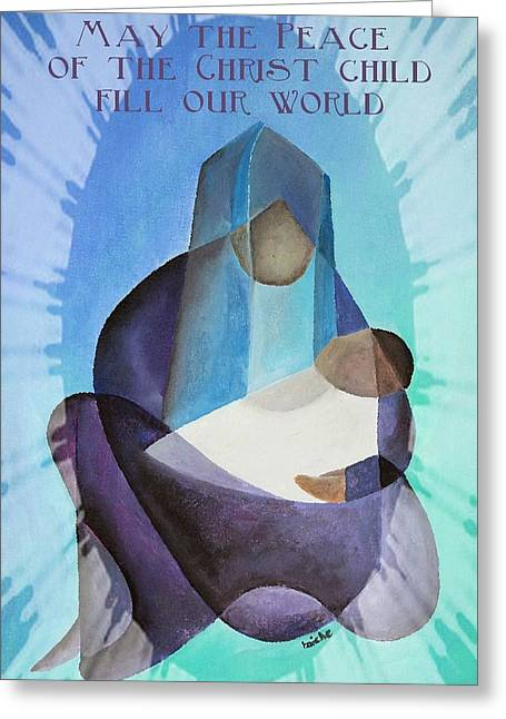 Saint Joseph Digital Greeting Cards - May The Peace Of The Christ Child Fill Our World  Greeting Card by Tracey Harrington-Simpson