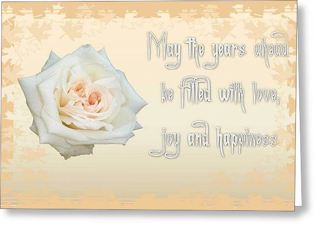 Divorce Greeting Cards - May The Years Ahead Be Filled With Joy and Happiness Greeting Card by Tracey Harrington-Simpson