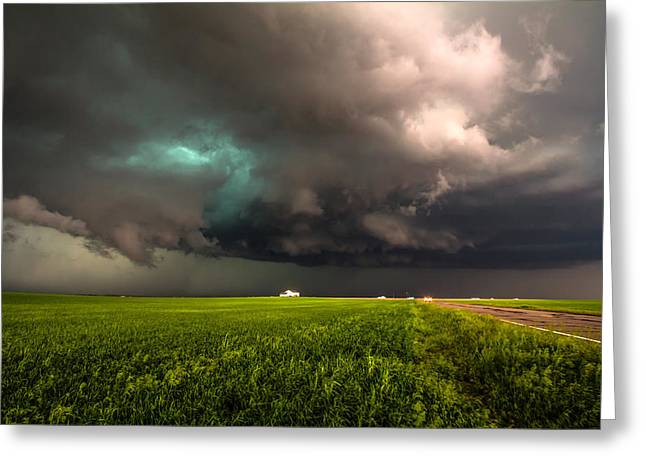 May Thunderstorm Greeting Card by Sean Ramsey