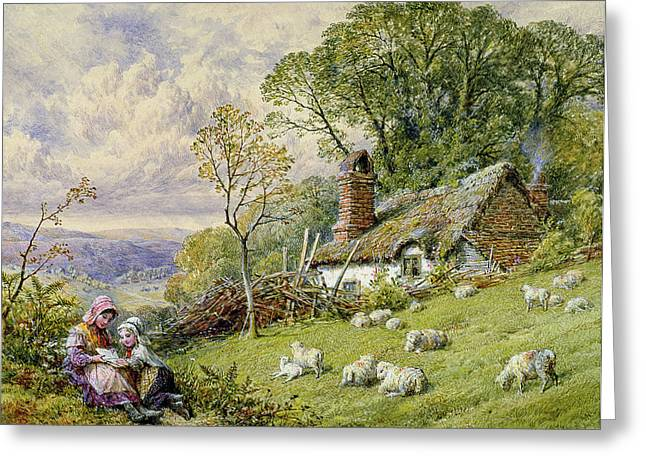 Lambing Greeting Cards - May Time Greeting Card by William Stephen Coleman