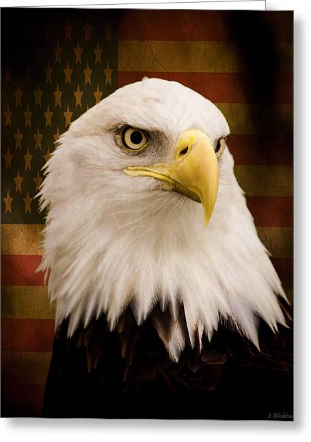 4th July Digital Art Greeting Cards - May Your Heart Soar Like An Eagle Greeting Card by Jordan Blackstone