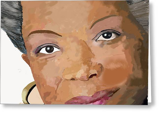 Maya Angelou Greeting Cards - Maya Angelou Greeting Card by David Jackson