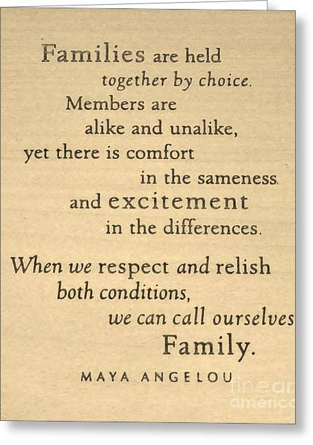 Maya Angelou Quote 3 Greeting Card by Bob Sample