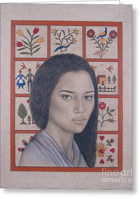 Black History Pastels Greeting Cards - Maya Greeting Card by Lynet McDonald