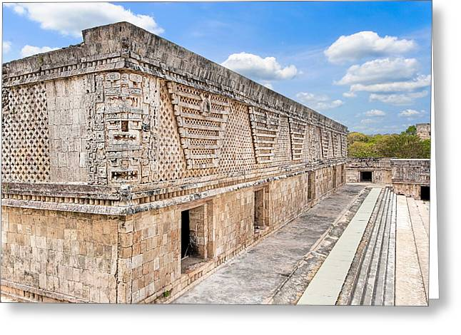 The Quadrangle Greeting Cards - Mayan Architecture at Uxmal Greeting Card by Mark Tisdale