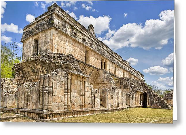 Ancient Ruins Greeting Cards - Mayan Palace Ruins at Kabah Greeting Card by Mark Tisdale