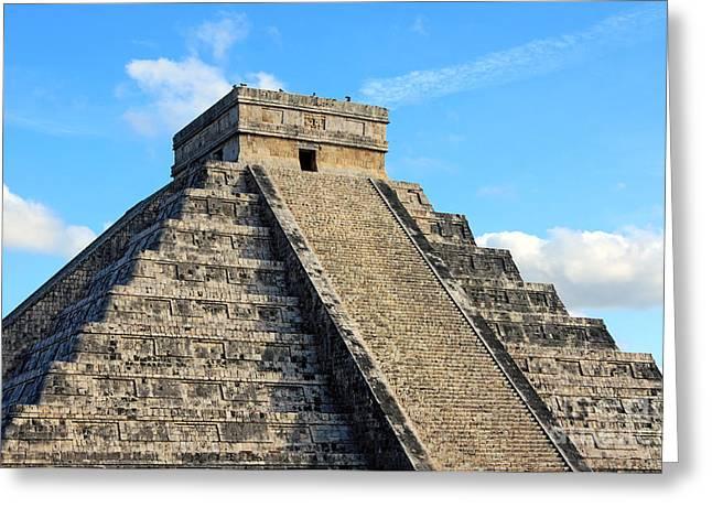 El Castillo Greeting Cards - Mayan Pyramid Greeting Card by Charline Xia
