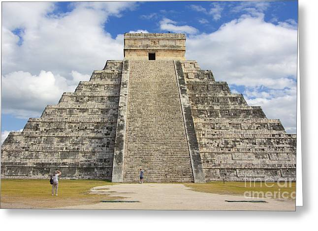 El Castillo Greeting Cards - Mayan Pyramid Chichen Itza Greeting Card by Charline Xia