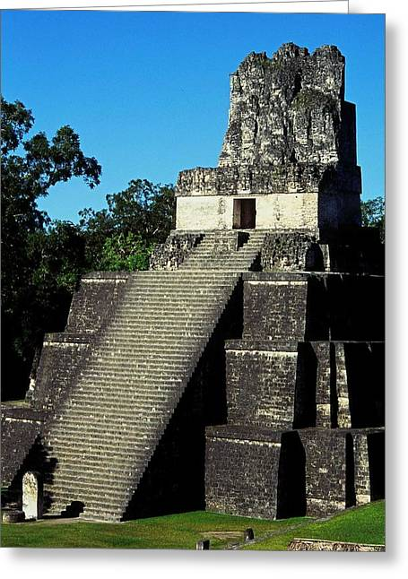 Geschichte Greeting Cards - Mayan Ruins - Tikal Guatemala Greeting Card by Juergen Weiss