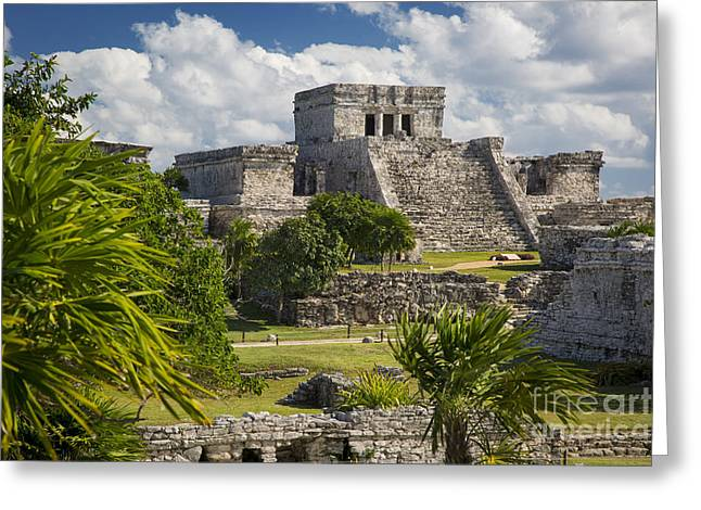 Stepping Stones Greeting Cards - Mayan Temple - Tulum Greeting Card by Brian Jannsen