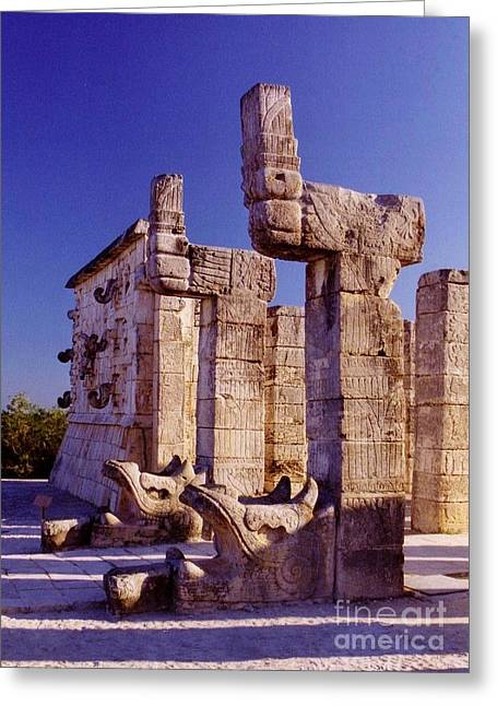Halifax Photographers Greeting Cards - Mayan Temple at Chichen Itza Greeting Card by John Malone