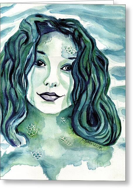 Maybe I'm A Mermaid Greeting Card by D Renee Wilson