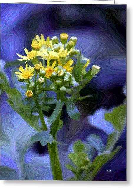 Blossoming Tapestries - Textiles Greeting Cards - Maybe Tomorrow Greeting Card by Thia Stover