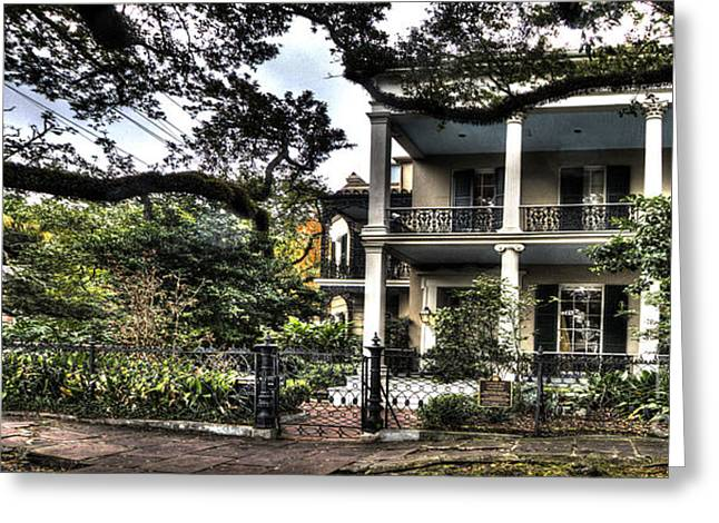 Anne Rice Greeting Cards - Mayfair Home on First Street Greeting Card by PhotoLily Photography