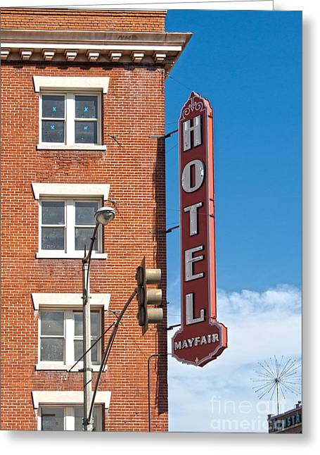 Downtown Pomona Greeting Cards - Mayfair Hotel - Pomona California Greeting Card by Gregory Dyer