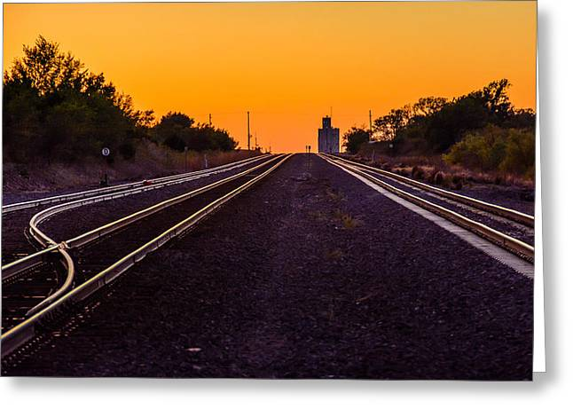 Mayfield Greeting Cards - Mayfield Kansas Tracks Greeting Card by Larry Pacey