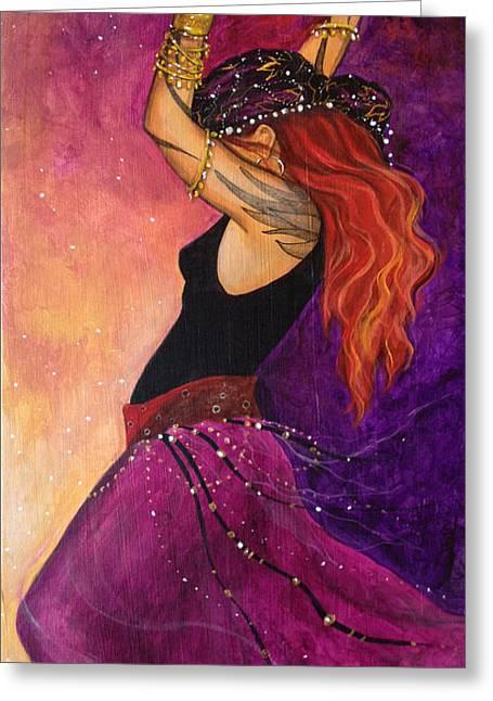 Gypsy Greeting Cards - Mayfire Greeting Card by Dori Hartley