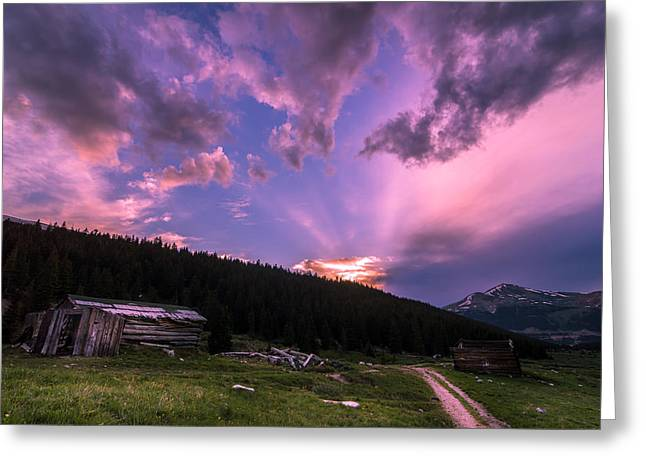 Rocky Mountains Greeting Cards - Mayflower Sunset Greeting Card by Michael J Bauer