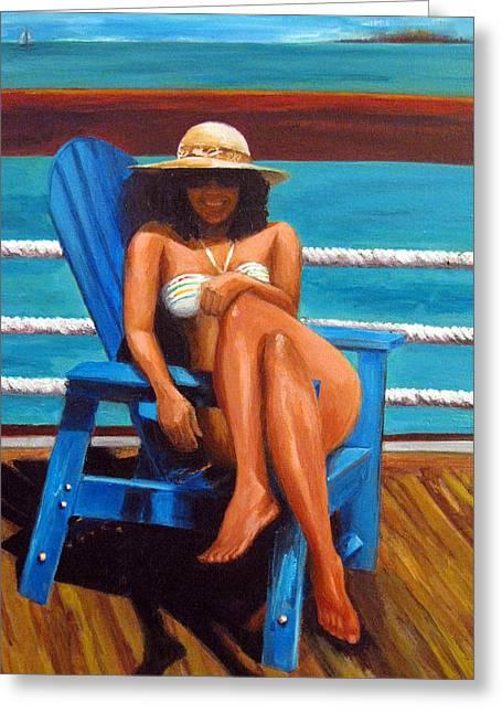 Mayi Caribe - I Wish You Were Here Greeting Card by Patricia Awapara