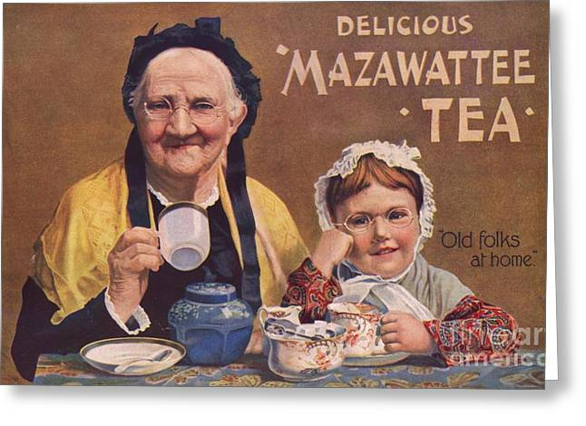 Mazawattee 1890s Uk Tea Greeting Card by The Advertising Archives