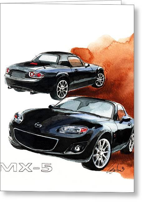 Mazda Greeting Cards - Mazda MX-5 Greeting Card by Yoshiharu Miyakawa