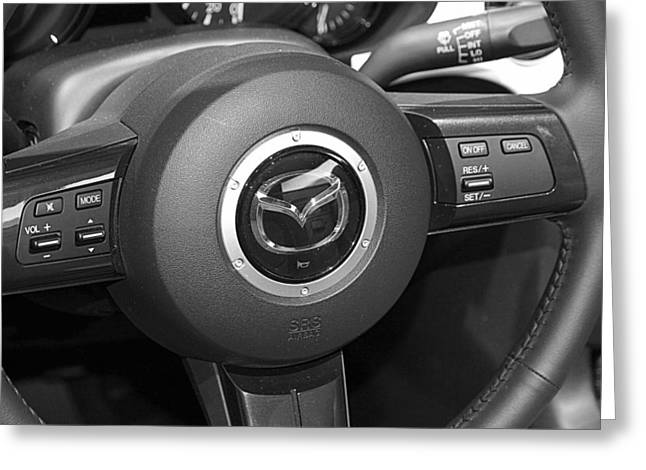 Mazda Greeting Cards - Mazda Wheel Greeting Card by Valentino Visentini