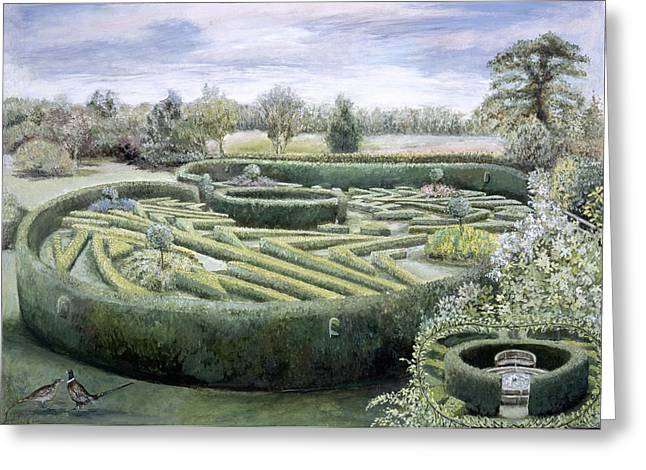 Natural Beauty Paintings Greeting Cards - Maze Greeting Card by Ariel Luke