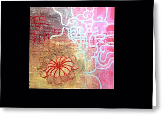 Netting Paintings Greeting Cards - Maze Greeting Card by Jane Fasse