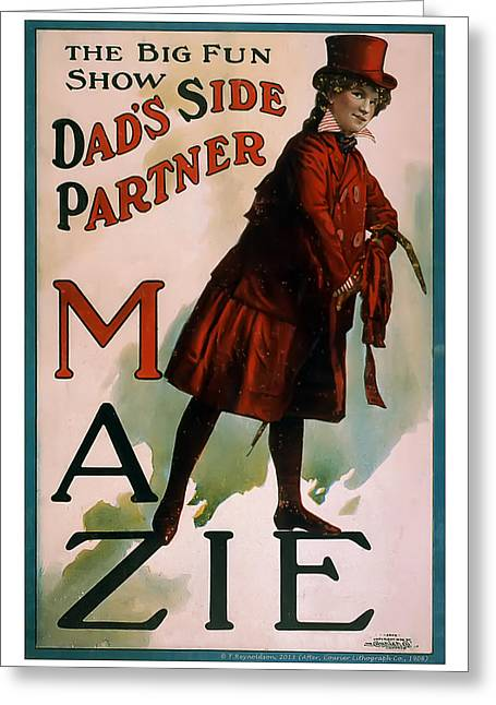 Mazie Greeting Card by Terry Reynoldson